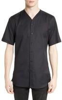 The Kooples Men's Classic Cotton Woven V-Neck Shirt