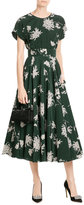 Rochas Printed Silk Dress