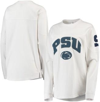 Women's Pressbox White Penn State Nittany Lions Edith Long Sleeve T-Shirt