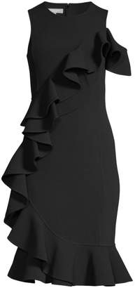 Michael Kors Ruffle Sheath Dress