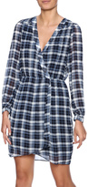 Honey Punch Plaid Surplice Dress