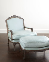 Old Hickory Tannery Bates Leather Bergere Chair