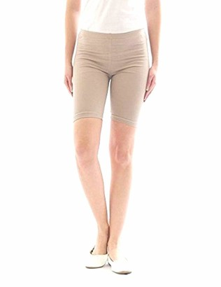 elegance 1234 Ladies Cycling Shorts Lycra Stretchy Cotton Above Knee Active Sport Everyday Short Legging (L