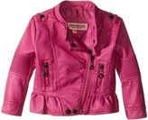 Urban Republic Kids Distressed Faux Leather Jacket (Infant/Toddler)