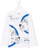 Kenzo Wildcat print T-shirt - kids - Cotton - 2 yrs