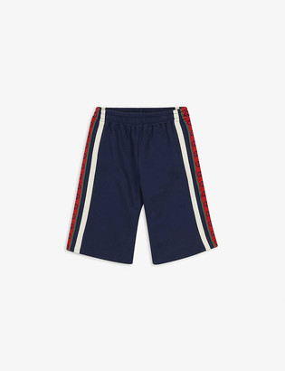 Gucci Web-print stretch-woven shorts 4-12 years