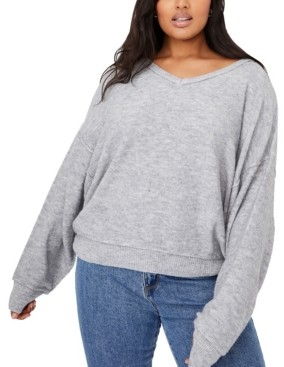 Cotton On Women's Trendy Plus Size Preppy Cable Pullover