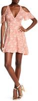 Solemio Sole Mio Floral Print Cold Shoulder Wrap Dress