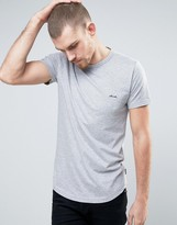 French Connection Longline T-Shirt with Chest Branding
