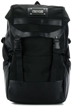 Versace logo plaque backpack