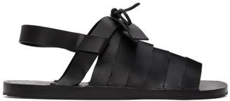 Jil Sander Black Strapped Flat Sandals