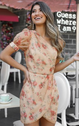 Showpo I Know I'm Gonna Miss You dress in peach floral - 6 (XS)