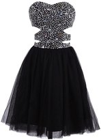 Dresstells® Beaded Bridesmaid Dress Short Tulle Party Dress Prom Dress