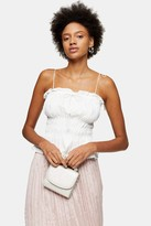 Topshop Womens Plain Ivory Casual Cami - Ivory