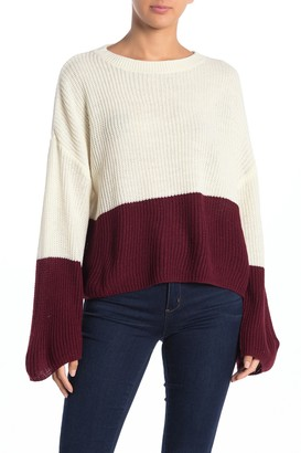 Love by Design Colorblock Knit Pullover Sweater