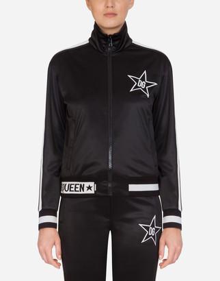 Dolce & Gabbana Triacetate Millennials Star Zip-Up Hoodie