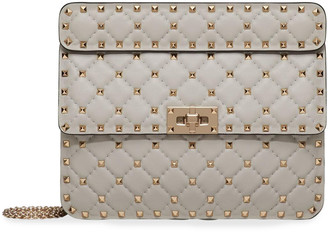 Valentino Rockstud Spike Medium Quilted Top-Handle Bag