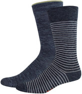 Dockers Men's Striped & Solid Slubbed Crew Socks
