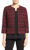 T Tahari Women's Nalia Collarless Jacket