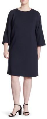 Lafayette 148 New York, Plus Size Marissa Bell Sleeve Shift Dress