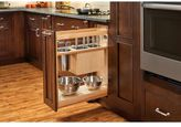 Rev-A-Shelf 448KB-BCSC-8C 8 in. Pull-Out Wood Base Organizer w/Knife Block and Soft-Close Slides