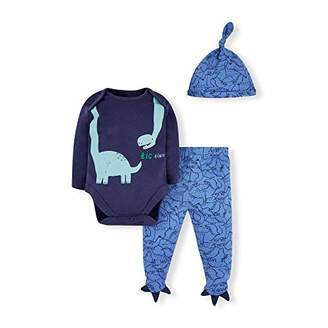 Mothercare Baby IO B Dino Novelty 3PC Set Bodysuit,(Size:68)