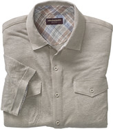 Johnston & Murphy Linen Knit Button-Front Shirt