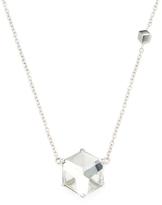 """Paolo Costagli """"Brillante Valentina"""" 18K White Gold & White Topaz Pendant Necklace"""