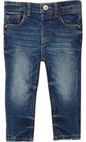 River Island Mini boys mid blue wash skinny jeans