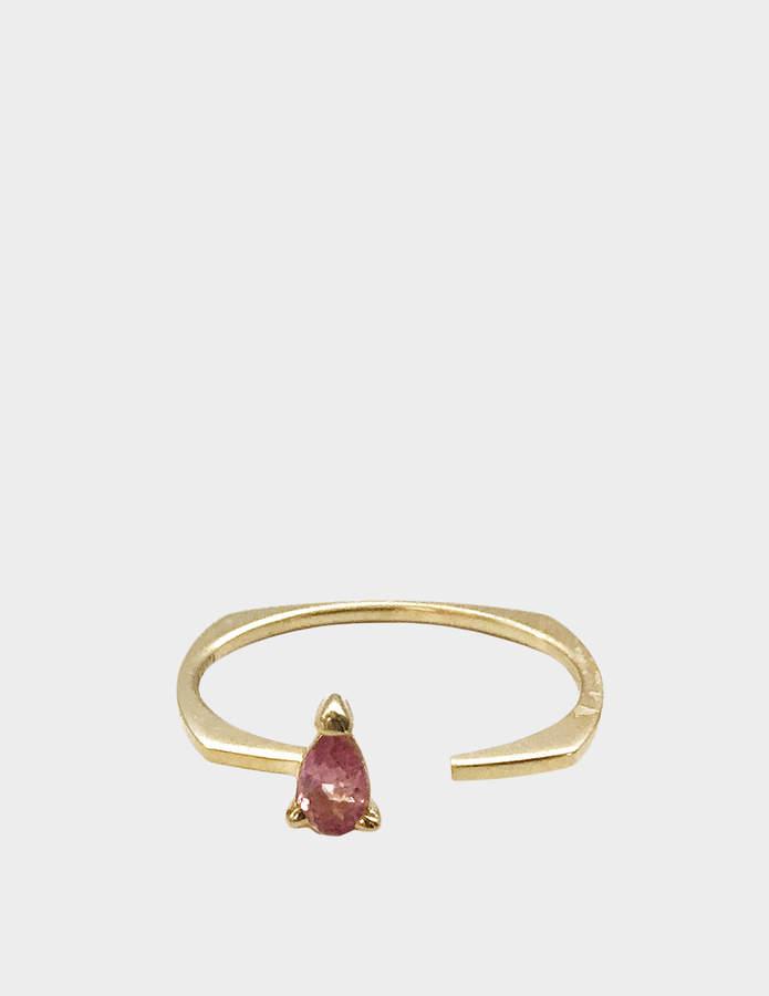 ALIITA Ring in 9K Yellow Gold with Pink Tourmaline