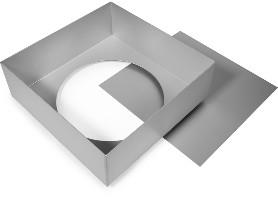 Cake Alan Silverwood Ltd - Square Tin Loose Base 10 Inch
