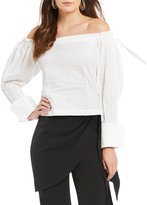 Gianni Bini Lana Off the Shoulder Large Cuff Balloon Sleeve Blouse