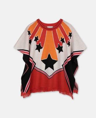 Stella McCartney Kids Stella McCartney cheerleader intarsia knit cape
