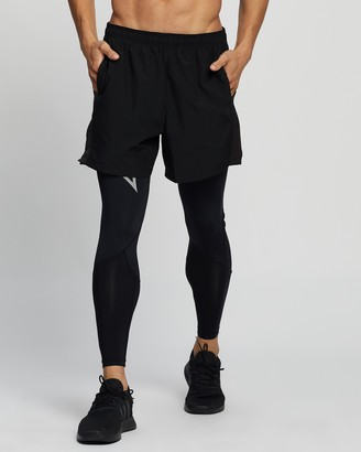 2XU Men's Black Tights - Run Dash Compression Tights - Size S at The Iconic