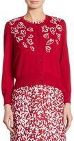Oscar de la Renta Wool Button-Front Cardigan
