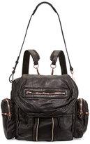 Alexander Wang Marti Zip-Trim Leather Backpack, Black