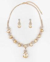 Le Château Gem Earrings & Necklace Set