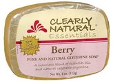 Clearly Natural Essentials Pure and Natural Glycerine Soap Bar Berry