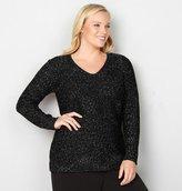 Avenue Solid Lurex Sweater