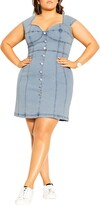 Thumbnail for your product : City Chic Sweetheart Neck Denim Minidress