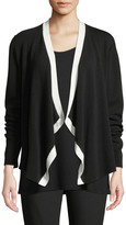 Eileen Fisher Petite Angled-Front Colorblock Cardigan
