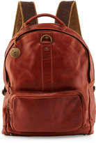 Will Leather Goods Felix Dome Leather Backpack, Cognac