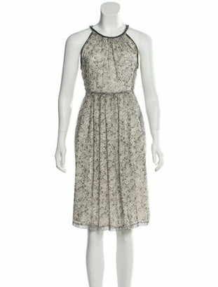 Thomas Wylde Silk Printed Dress w/ Tags Grey