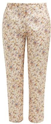 Mes Demoiselles Gaius Floral-print Silk Trousers - Womens - Beige Multi