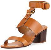 Chloé Kingsley Leather T-Strap Sandal