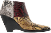 Acne Studios Cinzia snake-effect leather ankle boots