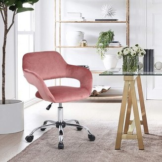 Mercer41 Cartersville Task Chair Upholstery Color: Pink
