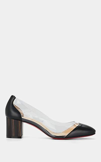 Christian Louboutin Women's Grandola Leather & PVC Pumps - Version Black