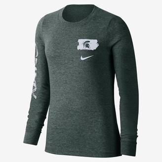 Nike Women's Long-Sleeve T-Shirt College (Michigan State)
