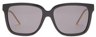 Gucci Square Acetate Sunglasses - Womens - Black